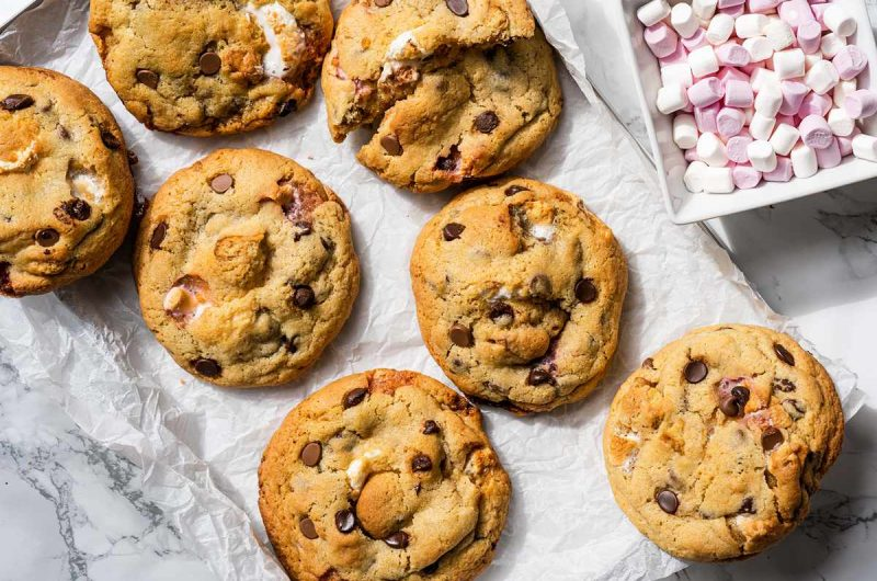 S'mores Cookies (without Graham Crackers)
